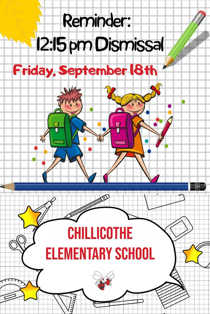 Reminder: Early Dismissal on Friday, Sept. 18th