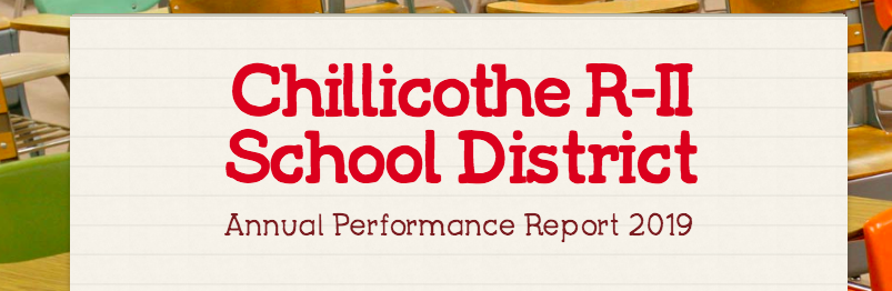 Chillicothe R-II School District Annual Performance Report 2019 Released Today!
