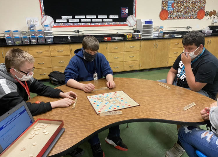 Today is National Scrabble Day!!   Ms Techau's ELA classes are enjoying it.