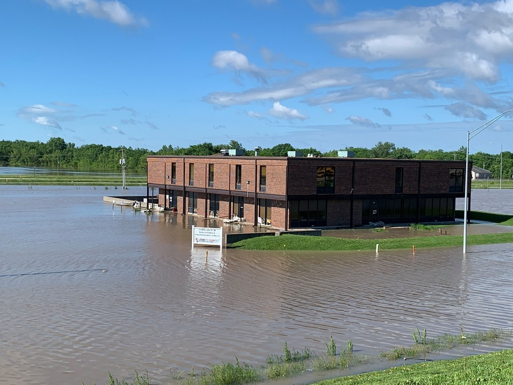 Flooded district office
