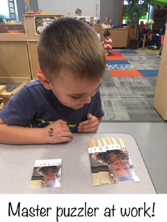 Building puzzles with pictures of our friends!