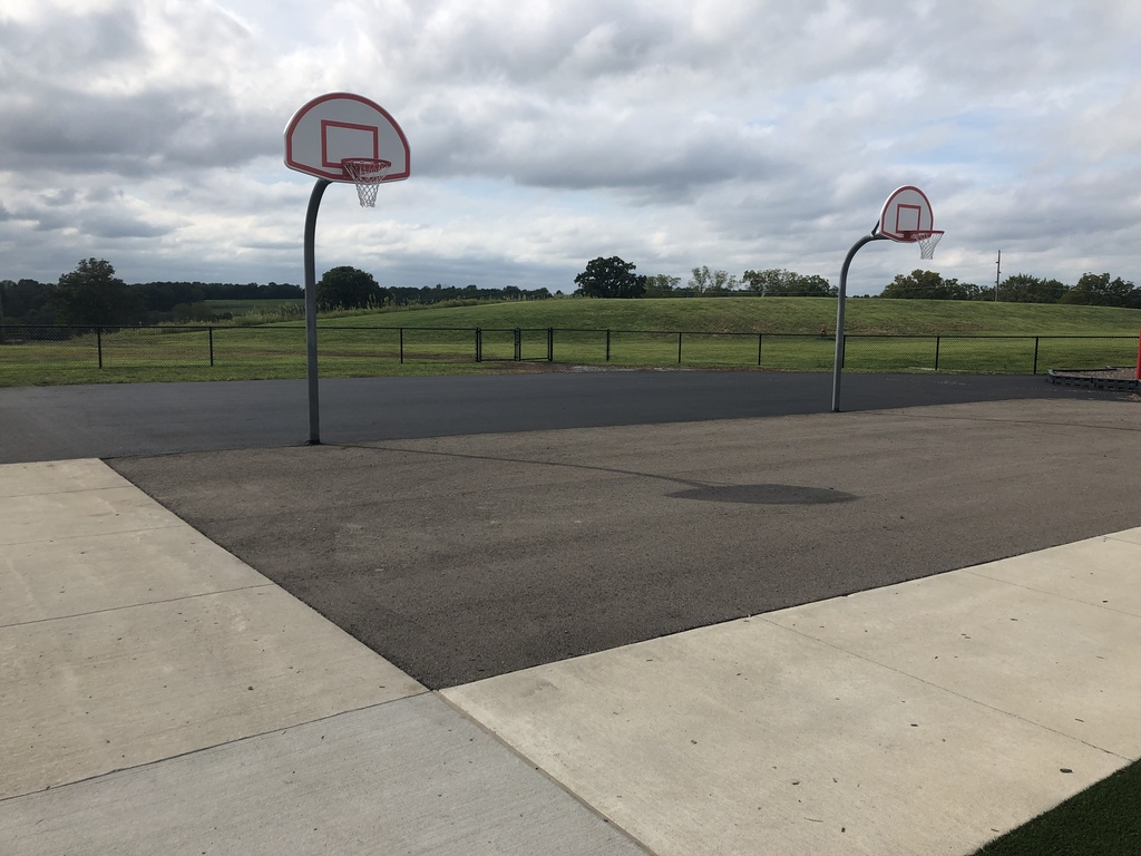 We extended the asphalt at the K-1 playground!