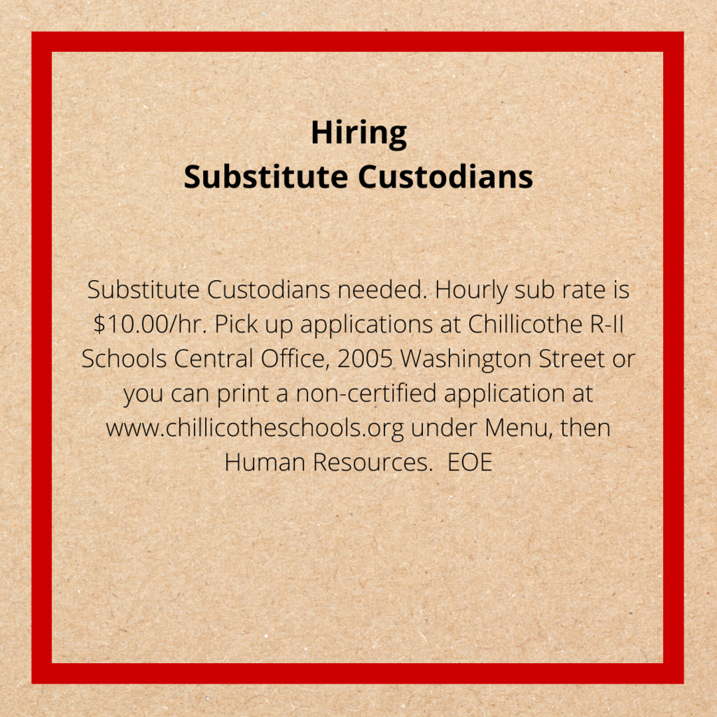 Custodian Advertisement